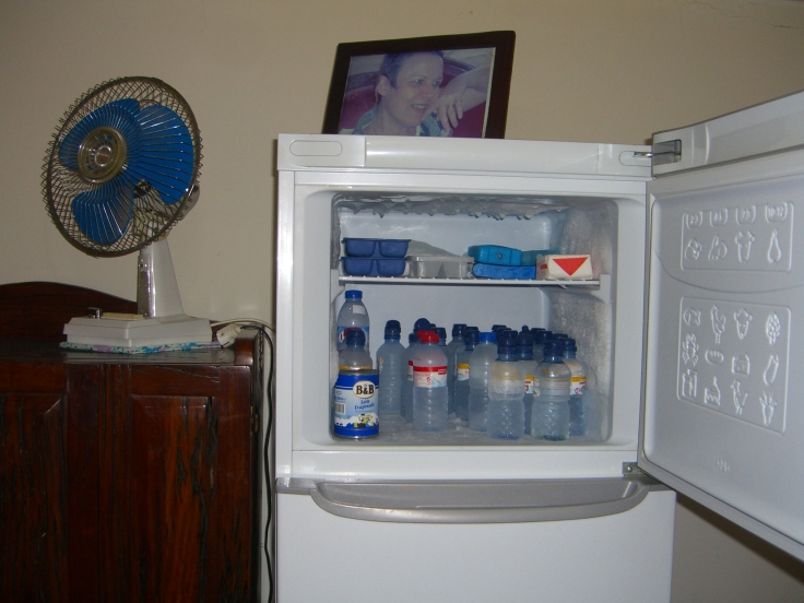 Freezer in summer