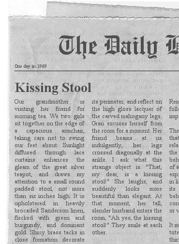 The Kissing Stool
