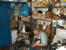 You should see the uncomfortable chair this cobbler sits on; probably has done for years.