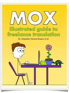 Mox in glorious Technicolor (R), presumably at the start of a nice big translation. This is also the first of two volumes of Mox cartoons I would recommend you buy.