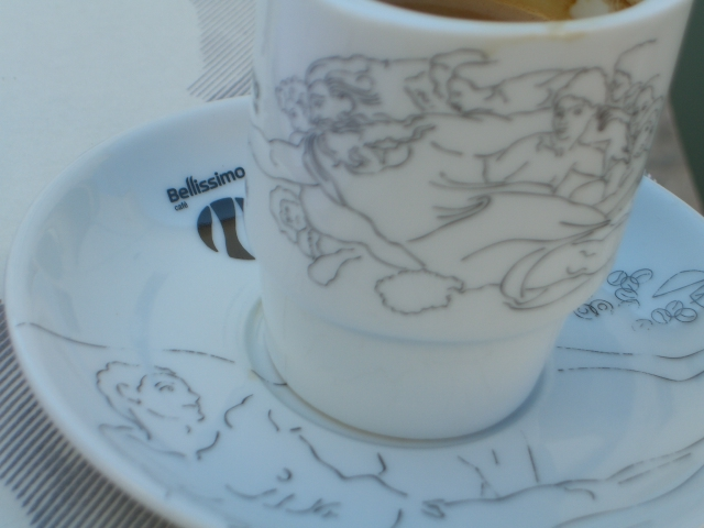 God and Adam separated in crockery.