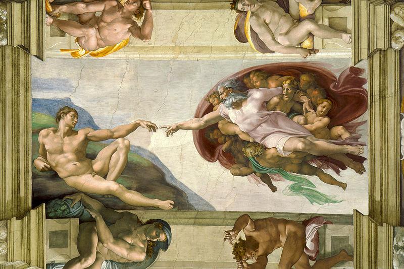 Creación_de_Adán - The Creation of Adam- Micehlangelo_ca. 1511