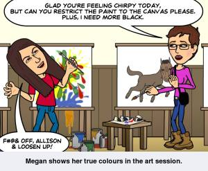 Bitstrip Megan and Allison