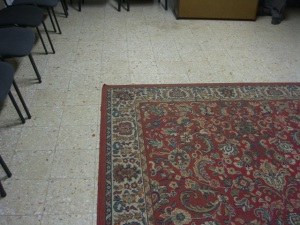 Carpet in the meeting room