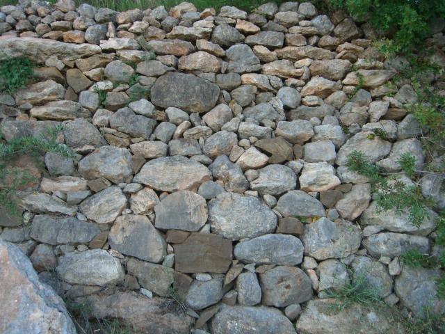No bricks, but a wall.