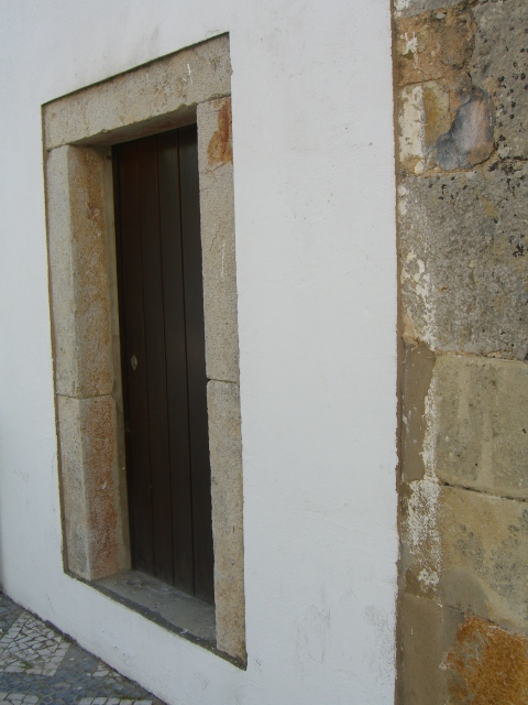 Door to the tower housing the bell picture yesterday.
