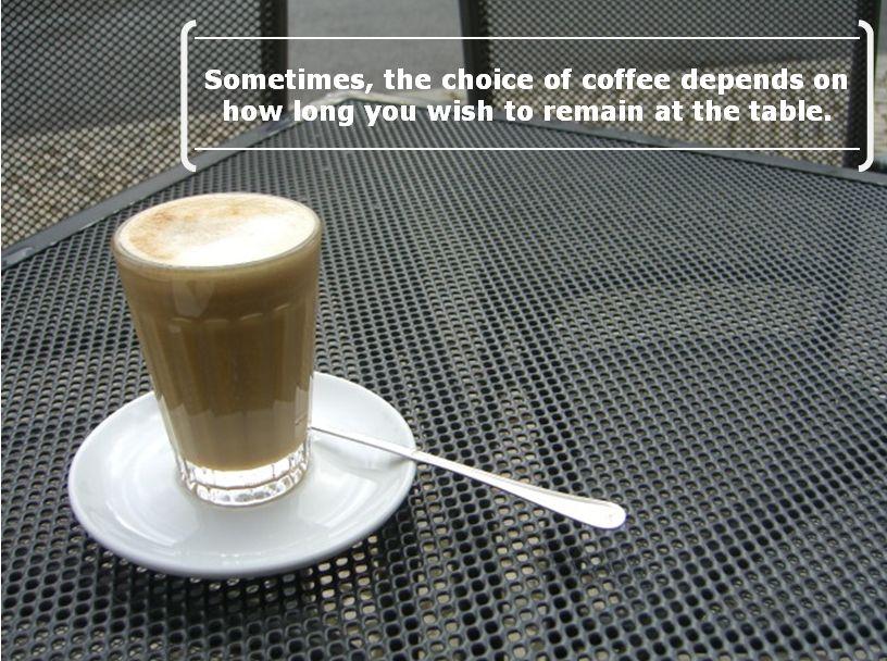 Coffee choice_length of stay