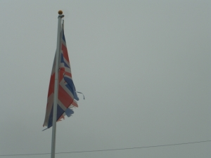 Even in the remotest corners of the British Commonwealth one finds more cheerful Union Jacks. This one comes from Faversham, Kent, England.
