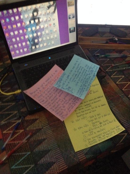 Brainstorming on paper