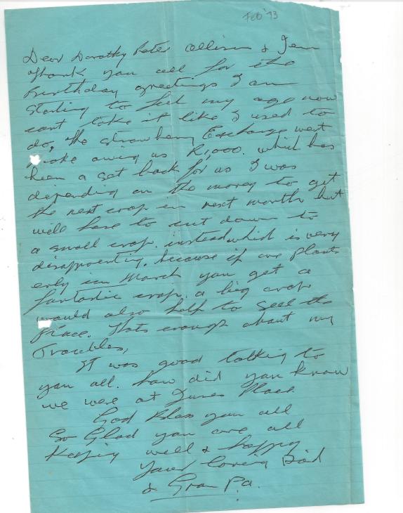 Grandpa's letter