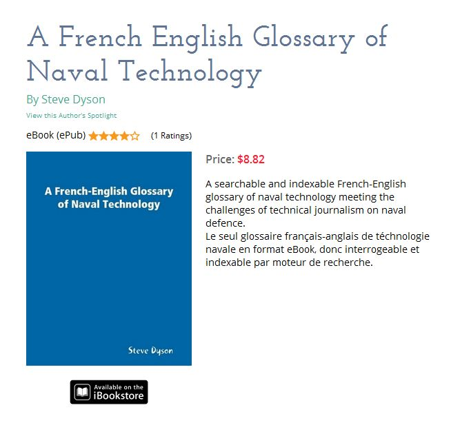 A French-English Glossary of Naval Technology by Steve Dyson - cover-