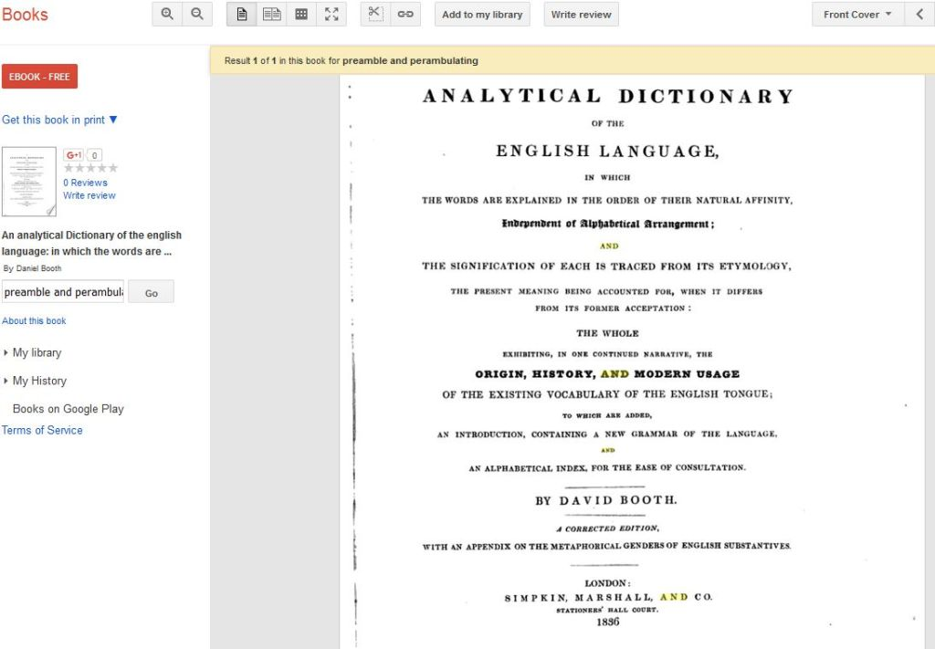 preamble and perambulating