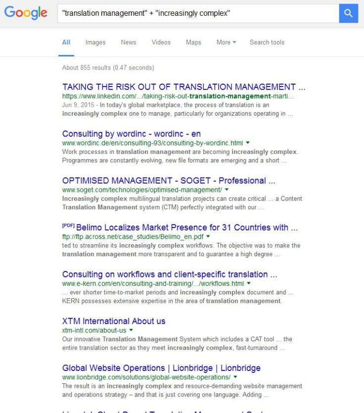 How much gobbledy-gook can you fit on to one page of search results?