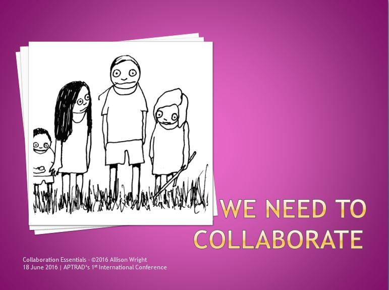 We neeed to collaborate - slide