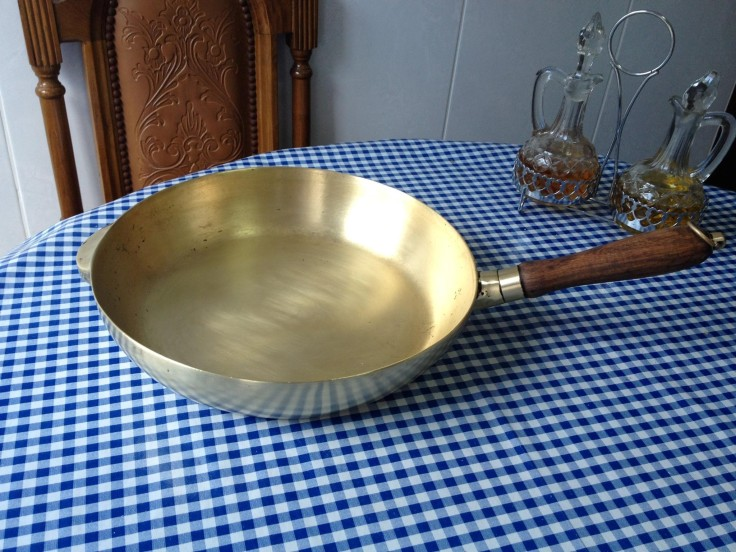 brass pan after 25 years of use
